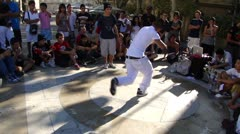 Hip-Hop breakdancers  1787 Stock Footage