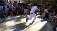 Stock Video Footage of Hip-Hop breakdancers  1787