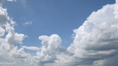 Blue sky become filled with dark clouds, time lapse Stock Footage