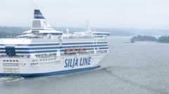 SILJA LINE cruise liner go faster Stock Footage