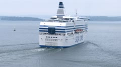 SILJA LINE cruise liner overrun another ship Stock Footage