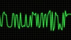 Audio wave line blue Stock Footage