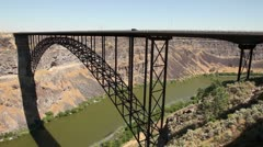 Snake River Canyon Perrine Bridge 1 Stock Footage