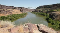 Snake River Canyon Perrine Bridge 3 Stock Footage