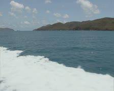Speeding boat Stock Footage