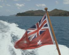 Australian Red Ensign flag in wind Stock Footage
