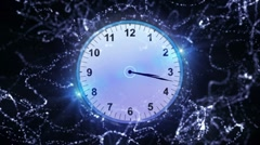 Clock Particle 5 - HD1080 Stock Footage