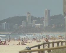Heat hazed beach Stock Footage