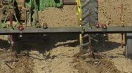 Stock Video Footage of Tractor implement working ground behind CU