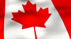 Flag-Canada-30fps-angle Stock Footage