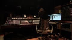 Recording Studio engineer mixing  23 Stock Footage
