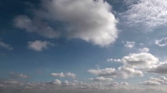 The rapid formation of clouds, two directions, time lapse Stock Footage