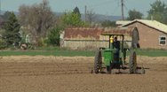 Stock Video Footage of Tractor with heat waves