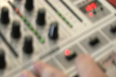 DJ Mixer Board Stock Footage
