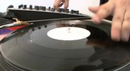 Stock Video Footage of DJ Scratching Perspective
