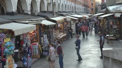 People shopping in Venice, Italy Stock Footage