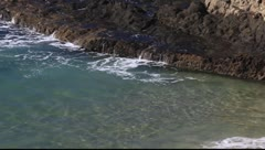 Surf and rock Stock Footage