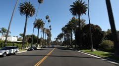 Beverly Hills Driving Shot Stock Footage