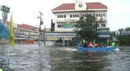Stock Video Footage of Flood Waters Submerge Ayutthaya, Thailand, October 12, 2011 922