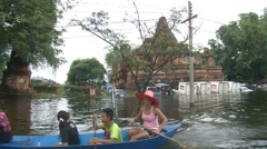 Flood Waters Submerge Ayutthaya, Thailand, October 12, 2011 921 Stock Footage