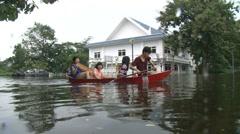 Flood Waters Submerge Ayutthaya, Thailand, October 12, 2011 918 - stock footage