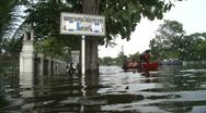 Stock Video Footage of Flood Waters Submerge Ayutthaya, Thailand, October 12, 2011 918