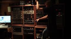 Recording Studio pan of room  18 Stock Footage