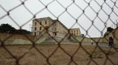 Alcatraz Yard 05 HD Stock Footage