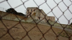 Stock Video Footage of Alcatraz Yard 06 HD
