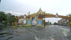 Flood Waters Submerge Ayutthaya, Thailand, October 12, 2011 914 Stock Footage