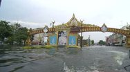 Stock Video Footage of Flood Waters Submerge Ayutthaya, Thailand, October 12, 2011 914