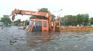 Stock Video Footage of Flood Waters Submerge Ayutthaya, Thailand, October 12, 2011 913