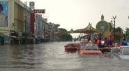 Stock Video Footage of Flood Waters Submerge Ayutthaya, Thailand, October 12, 2011 911