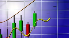 Stock market chart Stock Footage