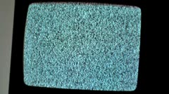old crt tv, analogue televison zoom out - stock footage