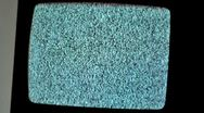 Stock Video Footage of old crt tv, analogue televison zoom out