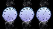 World Clock 2 - LONDON, NEW YORK, ROME Stock Footage