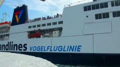 Scandlines ferry Fehmarn Puttgarden Denmark Stock Footage