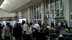 Mexico City Benito Juarez Airport Terminal 2 03 Stock Footage