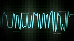 Audio wave line maths Stock Footage