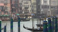 Boats station in Venice, Italy Stock Footage