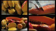 Fresh fruits 2 Stock Footage