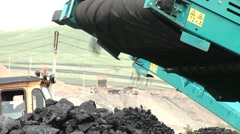 Coal Loading industry Stock Footage
