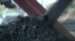 Machine for loading coal - stock footage