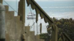 Alcatraz Boat 02 HD Stock Footage