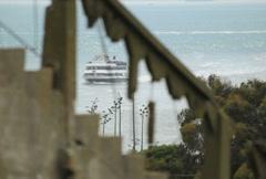 Alcatraz Boat 02 NTSC Stock Footage