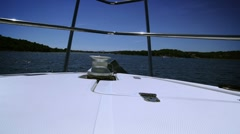 Waves from front of the boat with CANON Mkll Stock Footage