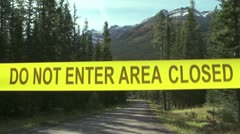 Area Closed Sign Stock Footage