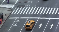 Bike in sharrow lane - Manhattan traffic too, nyc Stock Footage