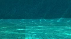 Outdoor Swimming Pool Jumping In Underwater Shot 03 Stock Footage